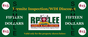 Get $15 Off Your Termite Inspection/WDI